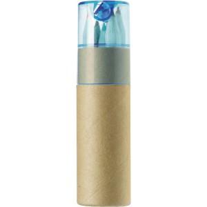 Fa színesceruza készlet, 6 db-os, hengerben